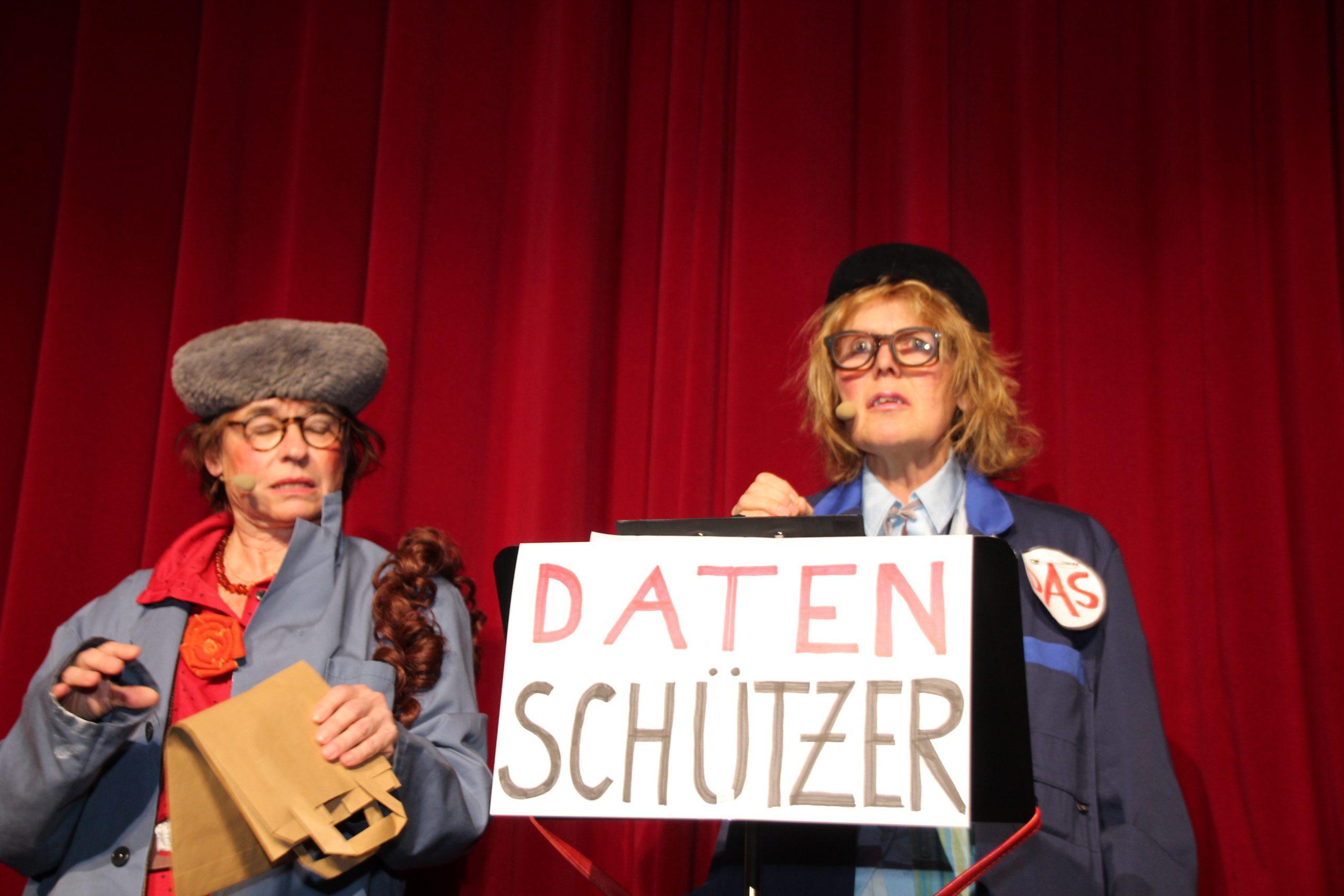 Zwei Damen als Datenschützer