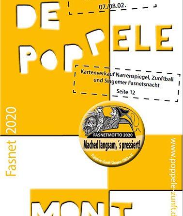 De Poppele mont Fasnet 2020