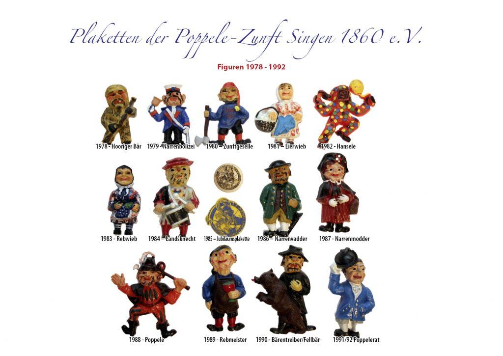 Plaketten Figuren 1978 - 1992
