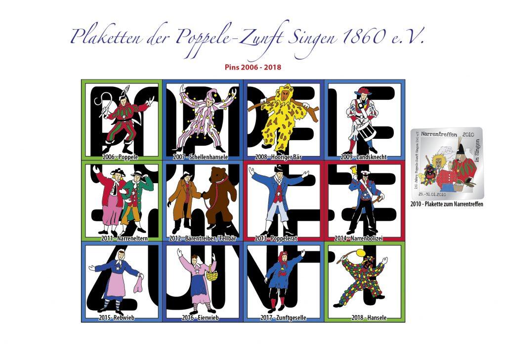 Plaketten Pins 2006-2018